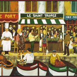 Пазл онлайн: Набережная в Сен-Тропе