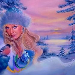 Пазл онлайн: Зимушка