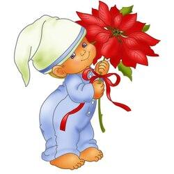 Пазл онлайн: Малыш и цветок