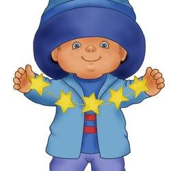 Пазл онлайн: Малыш и звездочки