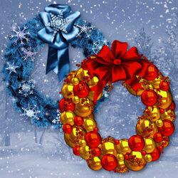 Пазл онлайн: Новогодние венки