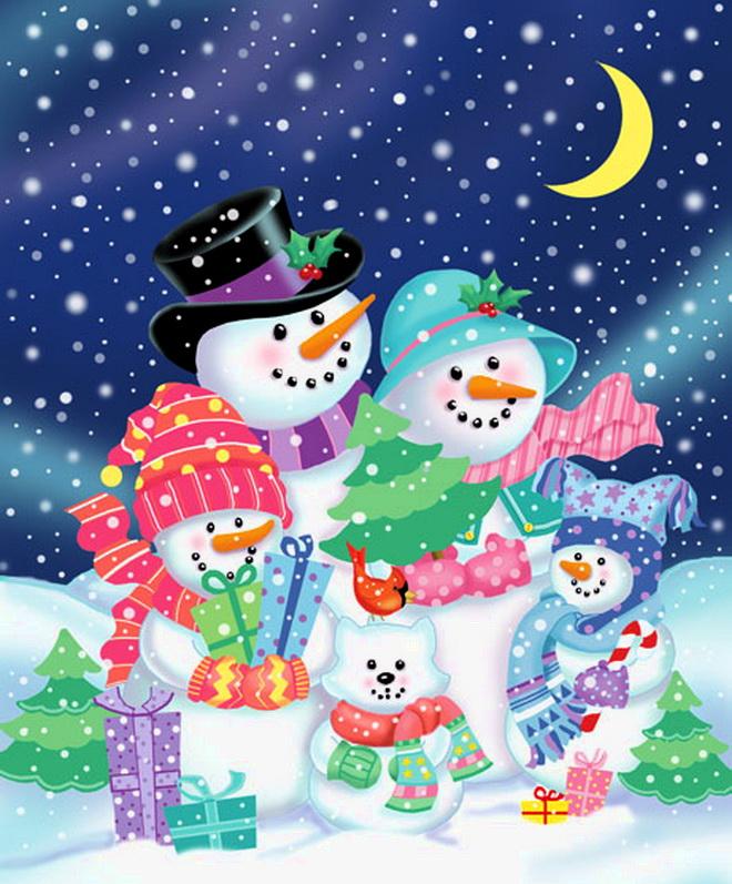 Родному, открытки цветные на новый год