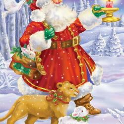 Пазл онлайн: В дорогу с Дедом Морозом