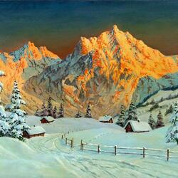 Пазл онлайн: Зима в Альпах