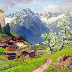 Пазл онлайн: Весна в Альпах