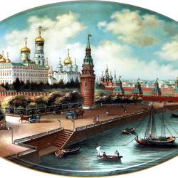 Пазл онлайн: Живопись на фарфоре. Москва