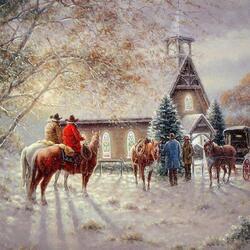 Пазл онлайн: Рождественская служба