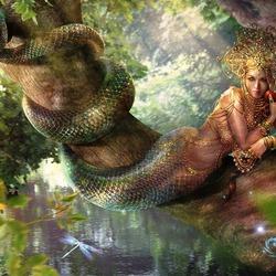 Пазл онлайн: Славянская мифология: вужалка