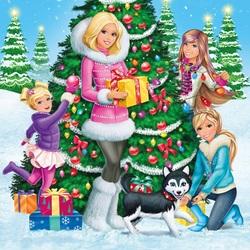 Пазл онлайн: Барби и чудесное Рождество