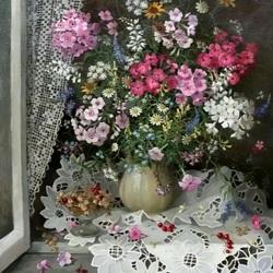 Пазл онлайн: Ягодно-цветочный натюрморт