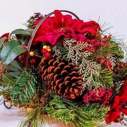 Пазл онлайн: Рождественская корзиночка