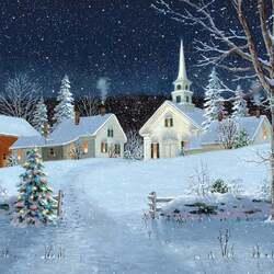 Пазл онлайн: Рождественские огни
