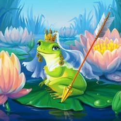 Пазл онлайн: Царевна-лягушка
