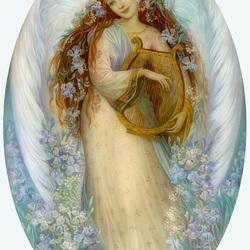 Пазл онлайн: Ангел с лютней