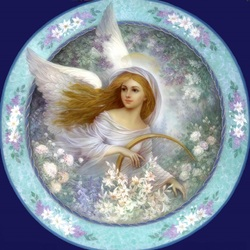 Пазл онлайн: Ангел в саду