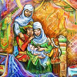 Пазл онлайн: Рождение сына в юрте