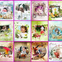 Пазл онлайн: Календарь детства