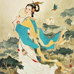 Пазл онлайн: Богиня лотоса Хэ Сянь-гу