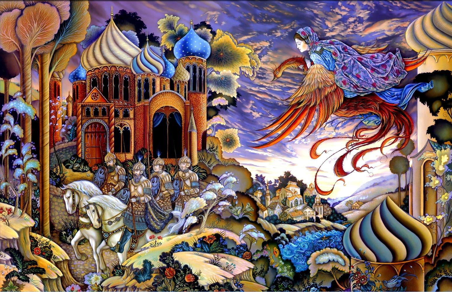 мир русских сказок картинки мастикой выглядят