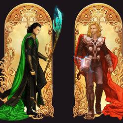 Пазл онлайн: Мстители: Тор и Локи