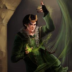 Пазл онлайн: Локи из Асгарда постигает искусство волшебства