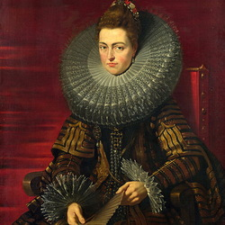 Пазл онлайн: Портрет Изабеллы Клары Евгении, регент Нидерландов