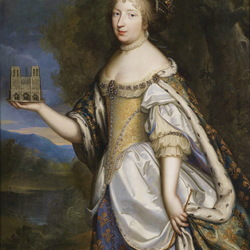 Пазл онлайн: Портрет королевы Франции Марии Терезии