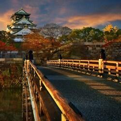 Пазл онлайн: Самурайский замок в Осаке