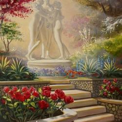 Пазл онлайн: Скульптура в саду