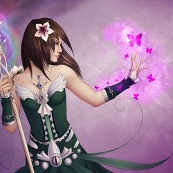 Пазл онлайн: Фелина и волшебные бабочки