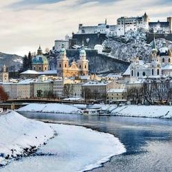 Пазл онлайн: Зимний Зальцбург