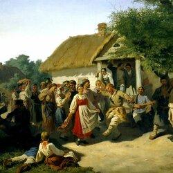 Пазл онлайн: Хоровод в Курской губернии