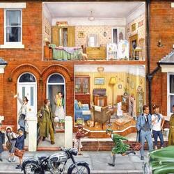 Пазл онлайн: Наш дом в 1950-х
