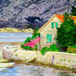 Пазл онлайн: Черногория. Живописная бухта
