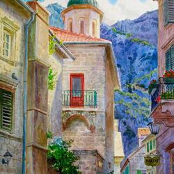 Пазл онлайн: Черногория. Улица в Которе