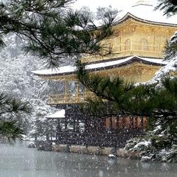 Пазл онлайн: Зима в Киото