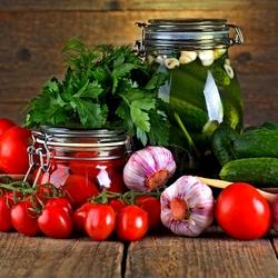 Пазл онлайн: Овощные заготовки