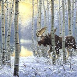 Пазл онлайн: Хозяин зимнего леса