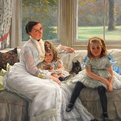Пазл онлайн: С дочерьми