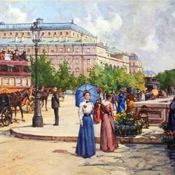 Пазл онлайн: Парижские бульвары в начале ХХ века