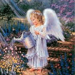 Пазл онлайн: Заботливый ангелочек