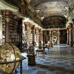 Пазл онлайн: Библиотека в Праге