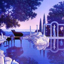 Пазл онлайн: Ночная мелодия