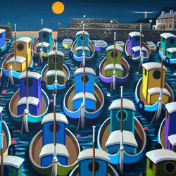 Пазл онлайн: Лодки у причала