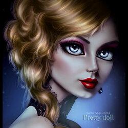Пазл онлайн: Прелестная кукла