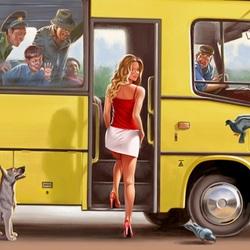 Пазл онлайн: Автобус