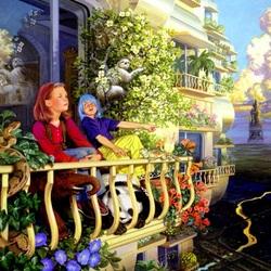 Пазл онлайн: Мир на балконе