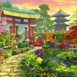 Пазл онлайн: Японский садик