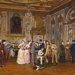 Пазл онлайн: Посещение в дворце Фонтенбло