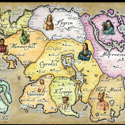 Пазл онлайн: Карта Тамриэля